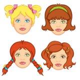 5 włosy kobieta Zdjęcie Royalty Free