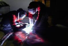 5 welders Стоковые Изображения