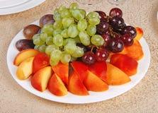 5 winogron brzoskwinia Obrazy Stock