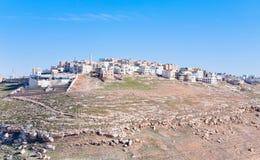 5 wzgórza Jordan kerak kamienia miasteczko Fotografia Royalty Free
