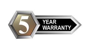 5 year warranty key. Vector art of a 5 year warranty key Royalty Free Stock Image