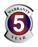 5 year warranty shield Royalty Free Stock Photography
