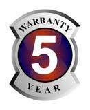 5 year warranty shield Royalty Free Stock Photography