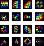 5 zestaw logo Zdjęcia Royalty Free