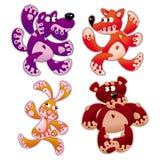 5 zwierząt kreskówka Zdjęcia Stock
