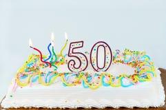 50ό κέικ γενεθλίων Στοκ Εικόνες