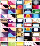 50个看板卡水平的向量 免版税库存图片
