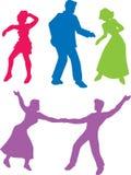 50个舞蹈演员s 向量例证