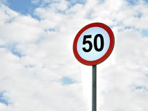50区h km限额速度 免版税库存照片