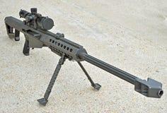 50口径步枪狙击手 免版税图库摄影