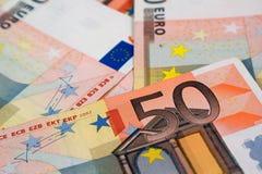 50张钞票欧元 免版税库存图片