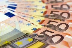 50张钞票欧元 免版税图库摄影