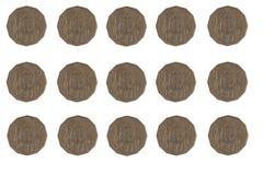 50枚分硬币 免版税图库摄影