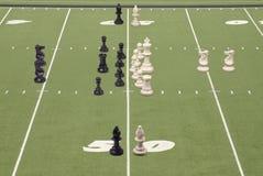 50棋橄榄球线路作用围场 库存图片