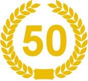 50 έτη στεφανιών δαφνών Στοκ φωτογραφία με δικαίωμα ελεύθερης χρήσης