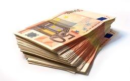 50 ευρο- σημειώσεις στοκ φωτογραφίες