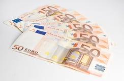 50 ευρώ που τίθεται Στοκ Εικόνες