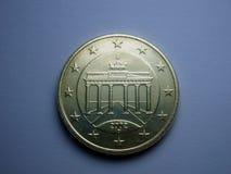 50 ευρώ σεντ Στοκ Εικόνα