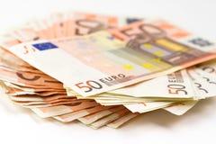 50 ευρώ τραπεζογραμματίων Στοκ Εικόνες