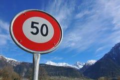 50 που επιτρέπονται όχι Στοκ Εικόνα