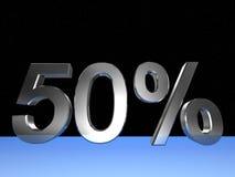 50 τοις εκατό Στοκ Φωτογραφίες