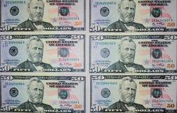 50 долларов Стоковое Изображение RF