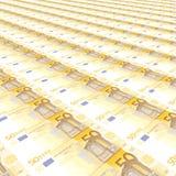 50 евро предпосылки Стоковое Фото