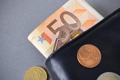 50 евро Стоковое фото RF