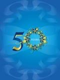 50 золотистых лет юбилея Стоковое фото RF