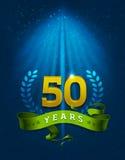 50 золотистых лет юбилея Стоковые Фото