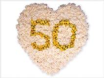 50 золотистых лет Стоковые Фото