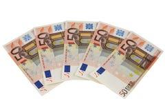 50 примечаний евро Стоковое Изображение RF
