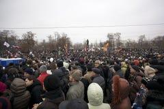 50.000 ensamblan la reunión cuadrada de la protesta de Moscú Bolotnaya foto de archivo libre de regalías