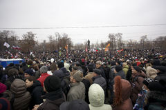 50,000 join Moscow Bolotnaya Square protest rally Royalty Free Stock Photo
