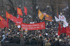 50,000 join Moscow Bolotnaya Square protest rally Stock Images