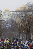 50,000 join Moscow Bolotnaya Square protest rally Royalty Free Stock Images