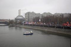 50.000 juntam-se à reunião quadrada do protesto de Moscovo Bolotnaya Foto de Stock