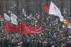 50.000 juntam-se à reunião quadrada do protesto de Moscovo Bolotnaya Fotos de Stock Royalty Free