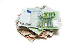 50 and 100 euros Stock Image