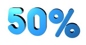 50% stock illustratie