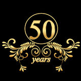 50 лет золота Стоковые Фото