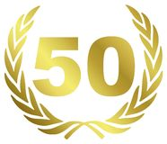 50 Anniversary. Illustration with laurel wreath Stock Photo