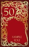 50 anniversary, jubilee, Happy birthday Stock Images