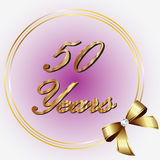 50 anos de aniversário Imagens de Stock Royalty Free