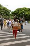 50 anty apec Honolulu zajmuje protest Fotografia Royalty Free