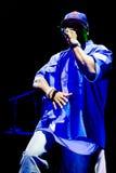 50 aren artysty cent wykonuje rap rzymskiego Obraz Royalty Free