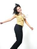 50 asiatiska flickabarn Arkivbild