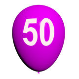 50 Balloon Shows Fiftieth Happy Birthday Celebration Royalty Free Stock Photo