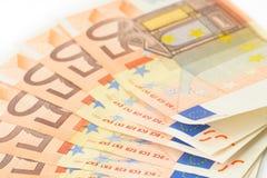 50 banka euro notatek Obraz Royalty Free