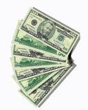 50 banknotów dolara projektu pieniądze Fotografia Royalty Free